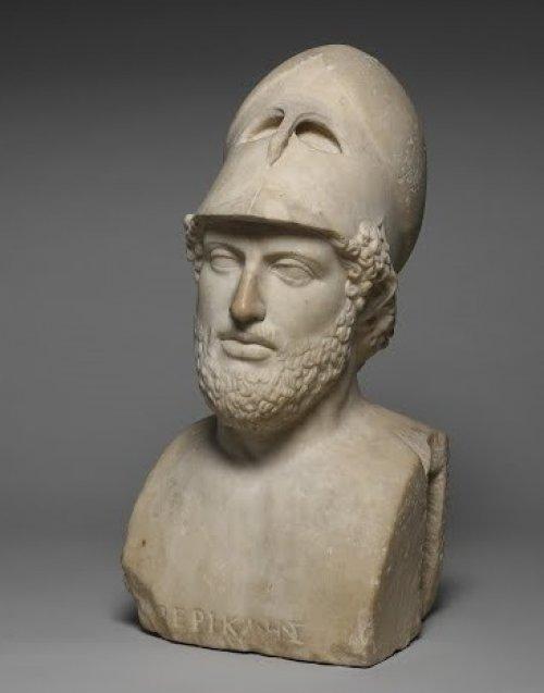 Busto de Péricles. Cópia romana de original grego. Museu Britânico. N° 1805,0703.91