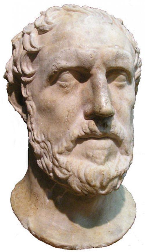 Busto de Tucídides no Royal Ontario Museum. Via Wikimedia Commons.