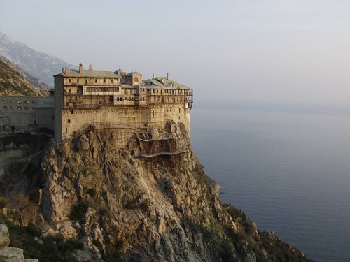 Mosteiro bizantino do Monte Athos.