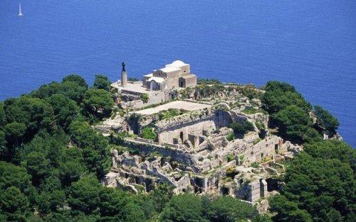 As ruínas do palácio na atualidade.