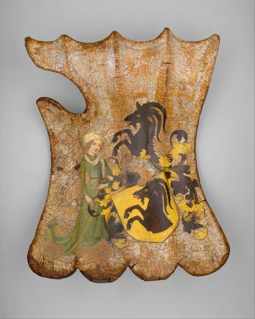 Escudo alemão para torneios de cerca de 1450. MET. N° 25.26.1