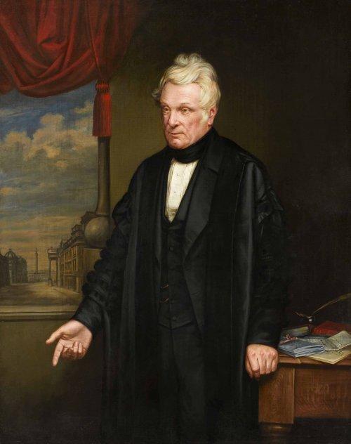 Esse é um dos três retrados que existem de John Clayton. É um pintura de 1863 do artiga E. Sawyer. O Museu de Chester contêm muitos dos achados de John Clayton.