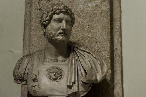 Busto do imperador Adriano, no Museu Capitolino em Roma.