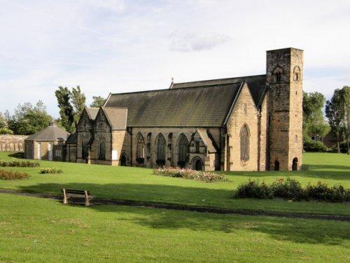 Abadia de Monkwearmouth-Jarrow. Mosteiro inglês no Reino da Nortúmbria. Construído entre os séculos 7 e 10.