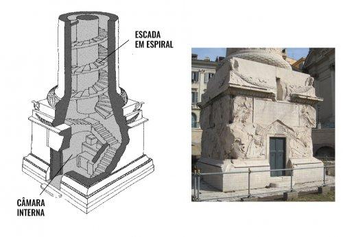 A base da coluna de Trajano.