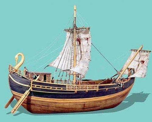 Modelo de um navio mercante romano.