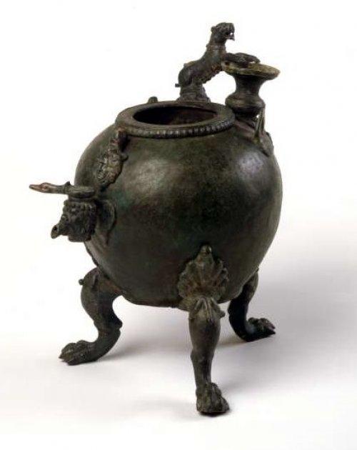 Authepsae (aquecedor de água) do século 3 d.C. Museu de Israel. N° 98.23.3