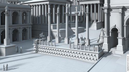 Reconstrução feita pelo site Digitales Forum Romanum.