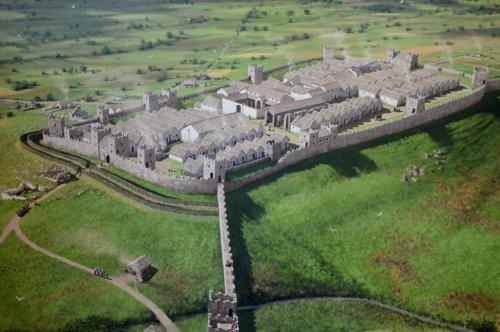 Reconstrução digital do forte romano de Housesteads. Autor desconhecido.