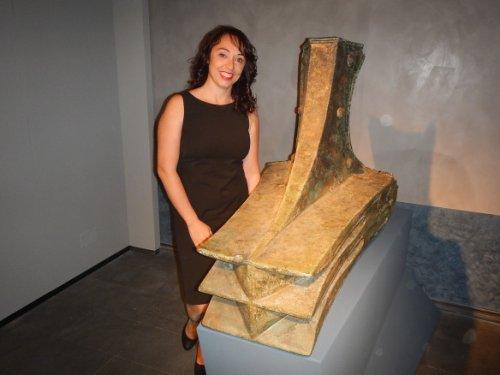 Aríete de bronze usado na proa de navio de guerra romano. Acredita-se que esse aríete tenha pertencido a um navio do século 3 ao 1 a.C. Museu Regional de Messina. Foto da arqueóloga Alba Mazza.