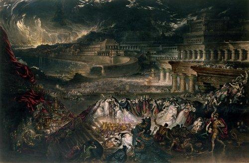 A Queda de Nínive, obra de John Martin (1829).