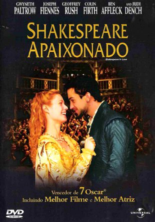 Capa do filme: Shakespeare Apaixonado