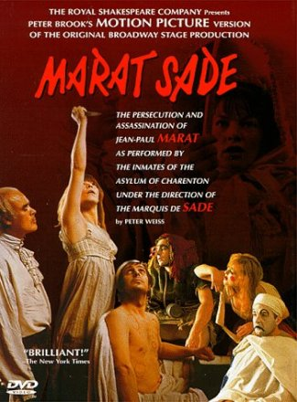 Capa do filme: A Perseguição e o Assassinato de Jean-Paul Marat...