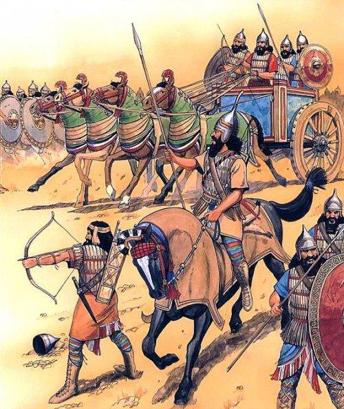 O exército assírio em campanha