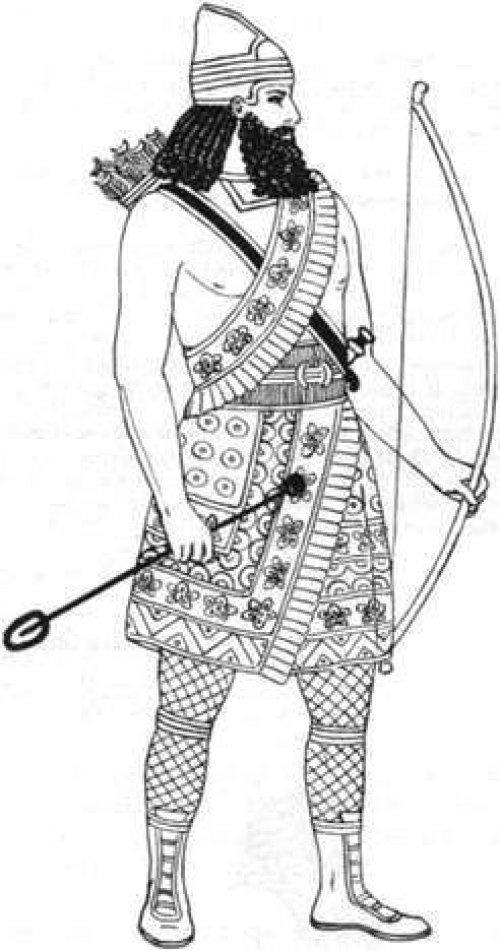 Um arqueiro assírio