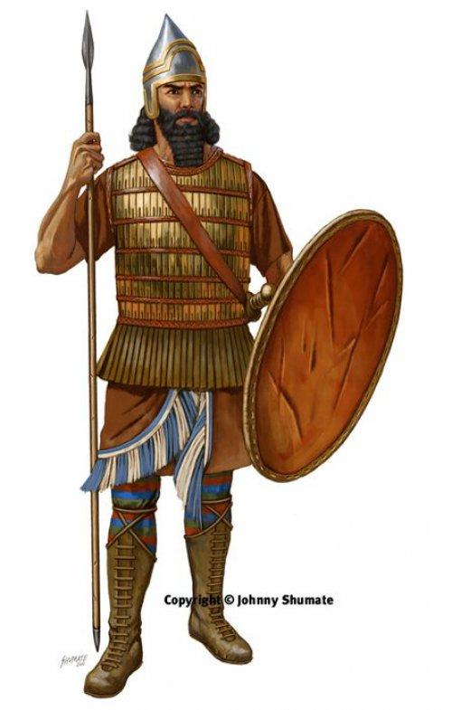 Soldado de infantaria assírio