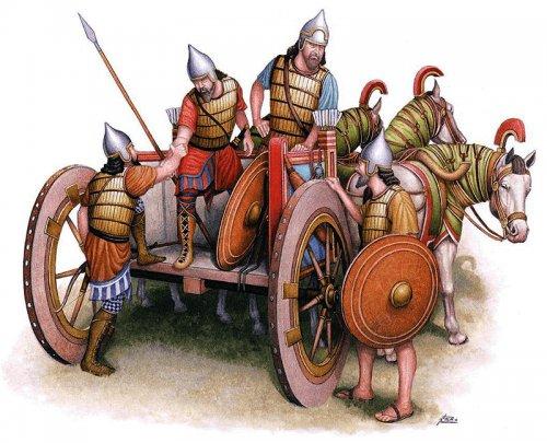 Carruagem de guerra assíria