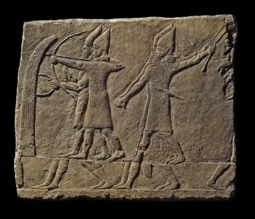 Relevo assírio do Palácio Sudoeste de Nínive - Sala 1 Painel 16