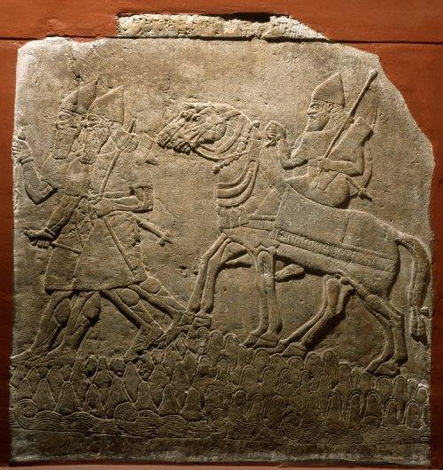 Relevo do Palácio Noroeste de Nimrud. Sala WG, canto noroeste.