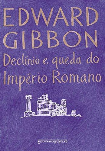 Capa do livro Declínio e queda do Império Romano, de Edward Gibbon