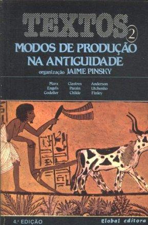 Capa do livro Modos de Produção na Antiguidade, de Jaime Pinsky (org.)