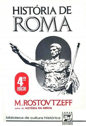 Capa do livro História de Roma, de Mikhail Rostovtzeff