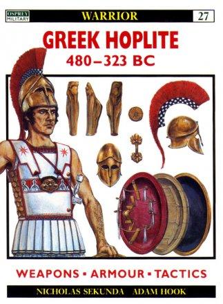 Capa do livro Greek Hoplite 480-323 BC, de Nicholas Sekunda