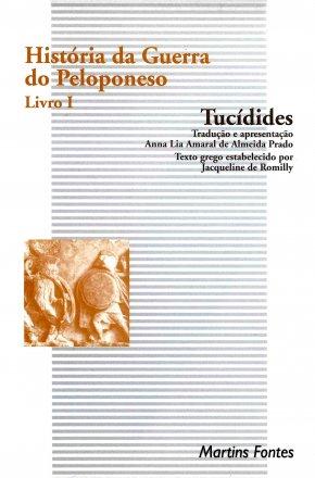 Capa do livro História da Guerra do Peloponeso (Livro I), de Tucídides